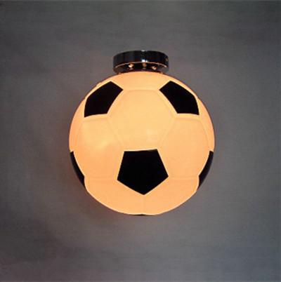 Bar Glass football lamp & basket ball ceiling lamps Modern E27 led ceiling lights children room bedroom kid's room hanging light fixtures