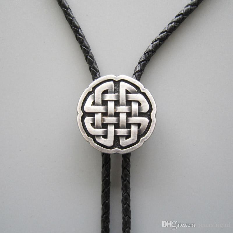 Orijinal Antik Gerçek Gümüş Kaplama Celtic Çapraz Düğüm Bolo Kravat Kolye BOLOTIE-070SL Ücretsiz Kargo Marka Yeni Stokta