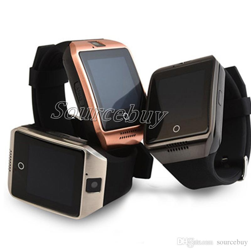 Cheap Q18 Buetooth Smart Watch Support SIM TF Card NFC Wireless Connection SmartWatch with Camera Remote Control Facebook Sync Date For IOS