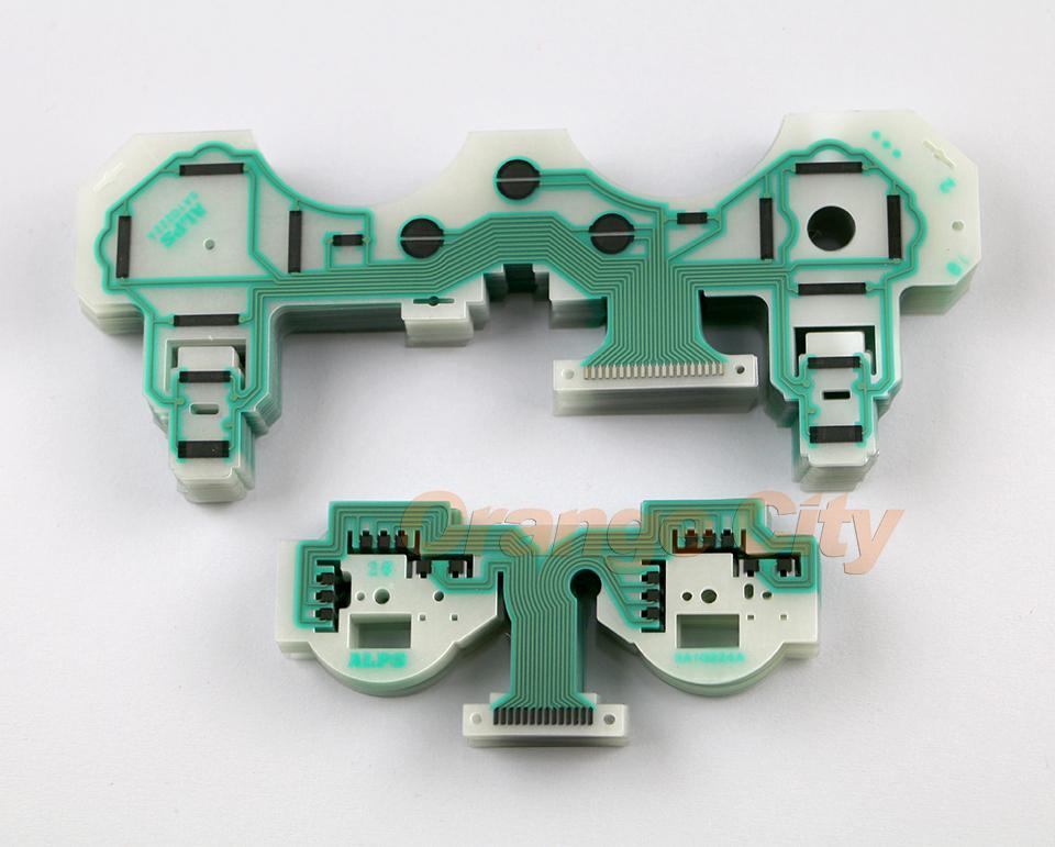 Partie de carte de circuit de réparation de câble de clavier conducteur de film conducteur pour le contrôleur 1 de Playstation 3 PS3 SA1Q222A + 1pc SA1Q224A = 1set