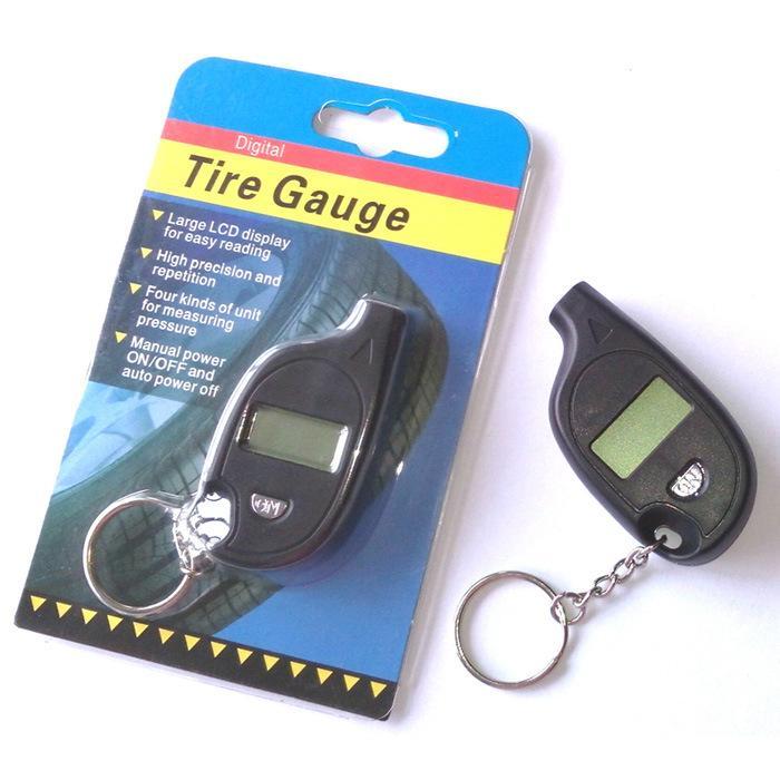 Medidor de Pneu Digital Medidor de Pressão de Ar do Pneu Do Carro PSI Display LCD Keychain Veículo Ferramentas De Diagnóstico Para O Carro Auto Motocicleta