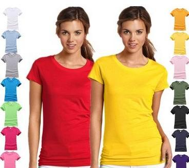 Более дешевая пустая футболка Femaler Solid Casual поддерживает печать вашего логотипа на рубашках с добавлением дополнительной стоимости одежды женщин истинного размера рубашки