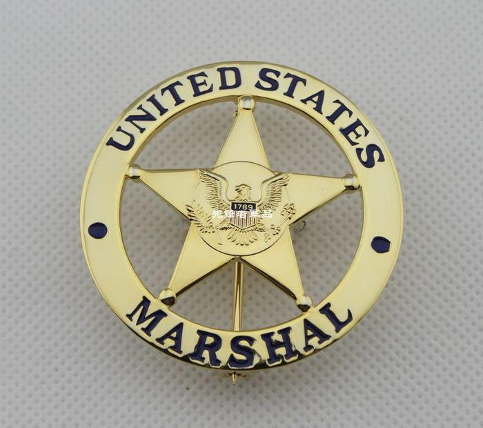 2019 United States Law Badge MARSHAL US Federal Court Law Enforcement  Badges Gold Surface From Drawnsun, $94 1 | DHgate Com