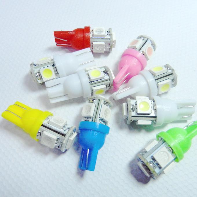 Venta al por mayor 200 pzas T10 194 168 W5W 5050 5 LED 5 smd Car Auto LED Wedge Light interior lado del coche bombilla linterna