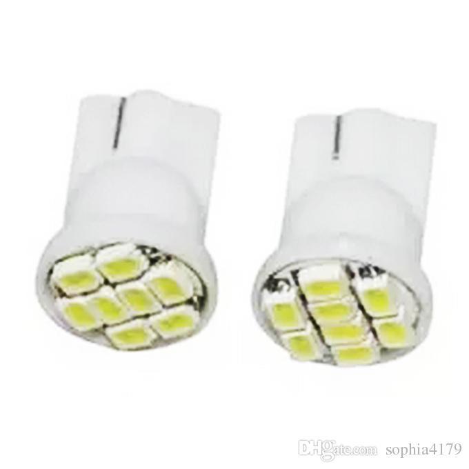 Venta al por mayor Car Led Light 500PCS T10 194168 1206 8smd 8 bombillas LED Luz de marcador lateral de lámpara automática