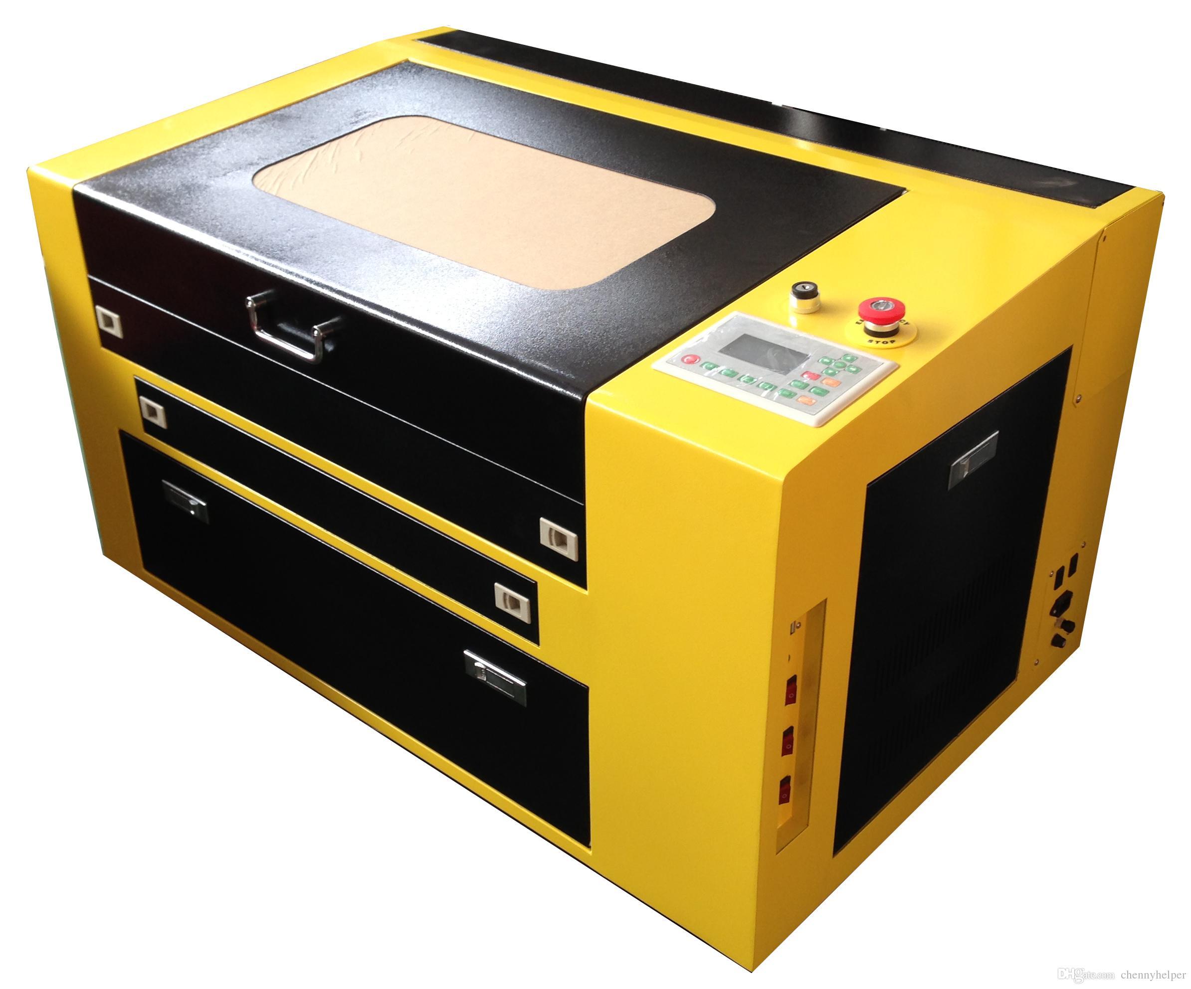 ZD-4060 60 واط 400x600 ملليمتر عالية الجودة co2 النقش بالليزر آلة قطع حفارة حفارة للخشب الرقائقي