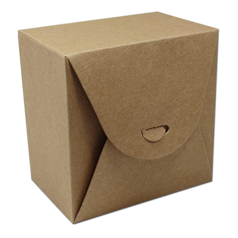 9 9 6cm Brown Kraft Paper Scalloped Small Box Wedding Party Favor