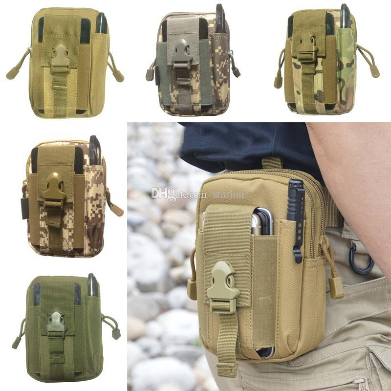 15 Color Home Outdoor Sports Tactical Bags Pockets Waist Bag Sport Running Mobile Phone Case Purse Pack Gadget Pocket WX9-166