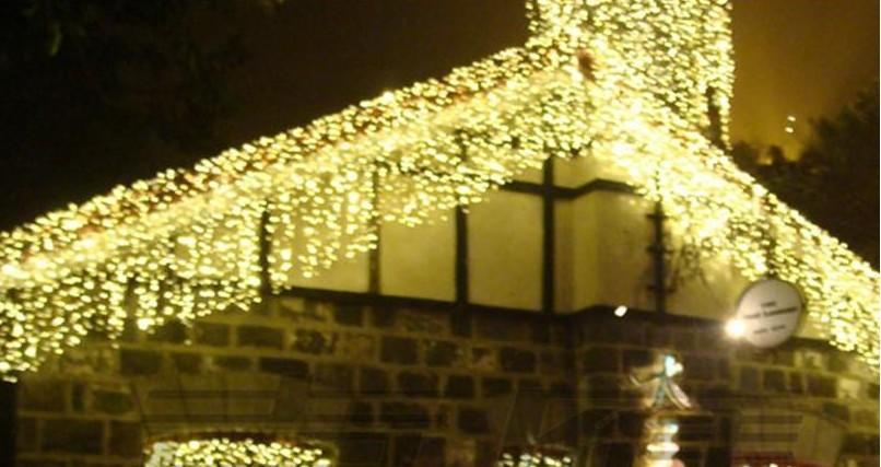 10M * 1M 448 Rideau Guirlandes LED Backdrop fête de Noël de mariage Décoration de Noël de vacances Guirlande lumineuse étanche AC 110V-250V