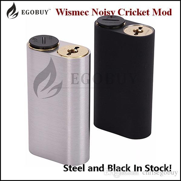 100% Original Wiscec Noisy Cricket Mod 18650 Batteri Box Mods för DIY RBA RDA RTDA RTA Atomizer Tank Chritmas New Year Clearance Stock