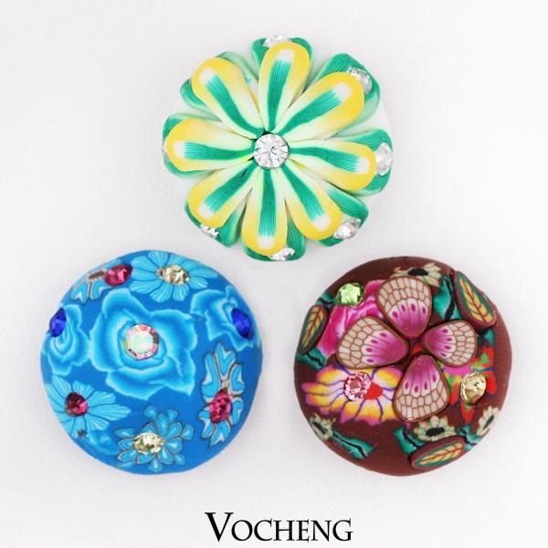 Vocheng Noosa 18mm Yapış Renkli Değiştirilebilir Snap Düğmesi Takı Kil Özel Snap Düğmesi (Vn-500)