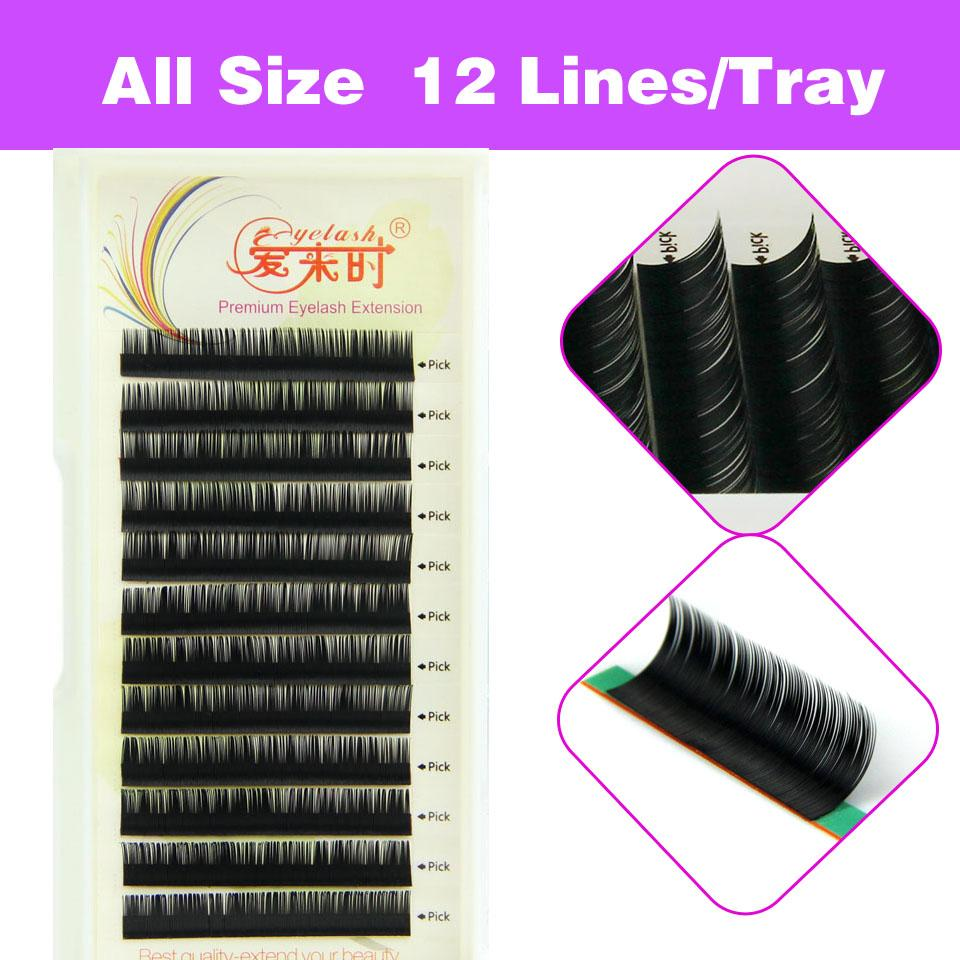 3D Volume Natural Eyelash Extension False Eyelashes Individual Eyelashes Makeup Tool Korea Fiber 4 Trays B C D Curl 8-15mm