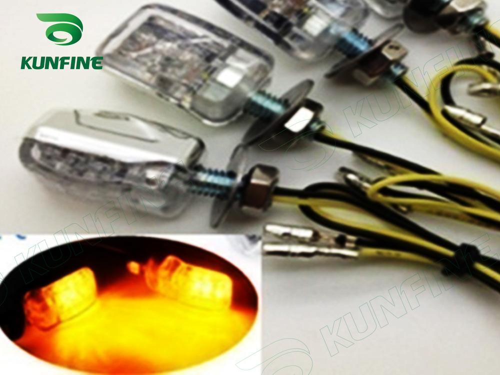 Emarked 12 V 6LED Mini Evrensel Motosiklet Led Dönüş Sinyali Gösterge Işığı Lambası dönüş ışığı Amber Işık KF-V3023