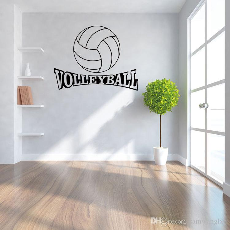 42*72Cm Volleyball Vinyl Wall Decal Stickers For Kids Sport Boy