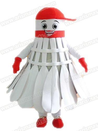AM5231 mascotte di costume della mascotte di formato adulto di badminton di misura per la pubblicità del carattere Character Design Arismascots Deguisement Mascotte Carnival Outf
