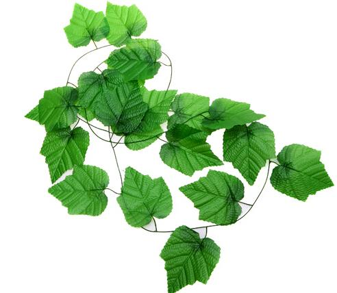 2020 Grape Leaves Ornamental Plants Rattan Vines Flower Artificial