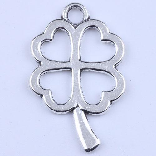 Металл античное серебрение подвески Клевер подвески ювелирные изделия выводы fit ожерелья ювелирные изделия решений 2159y бесплатная доставка