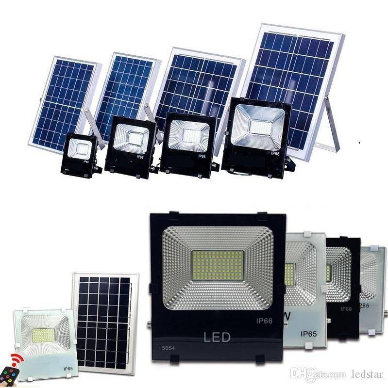 40W 60W 100W Solar Powered Panel LED Fernbedienung Flutlichter Outdoor Flutlicht Garten Outdoor Street Light