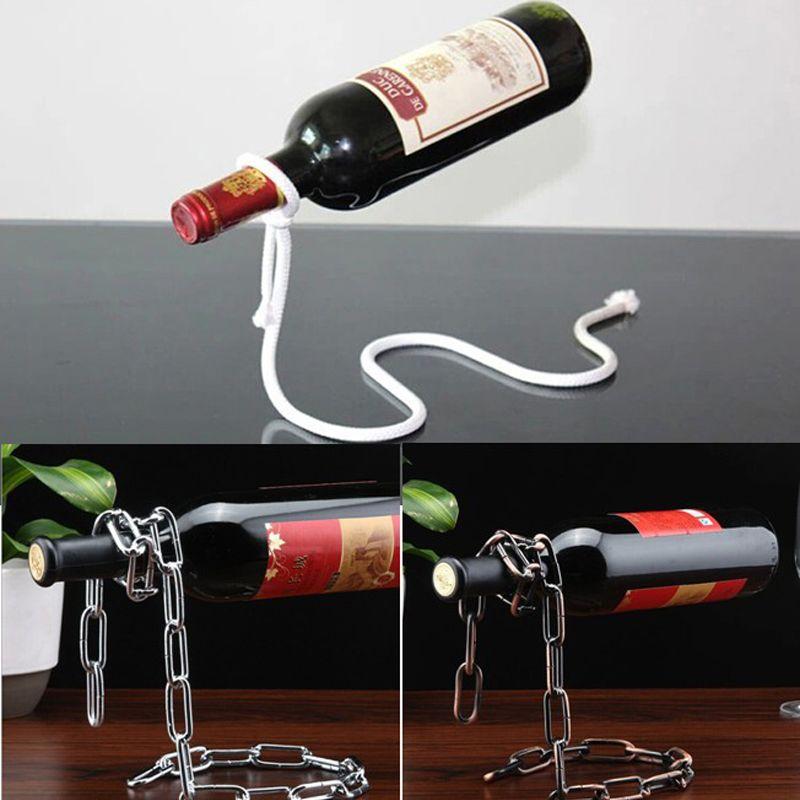 3 أنماط الإبداعية النبيذ رفوف زجاجة اليدوية تصفيح عملية دعم المنزل المطبخ بار الملحقات العملي حامل النبيذ