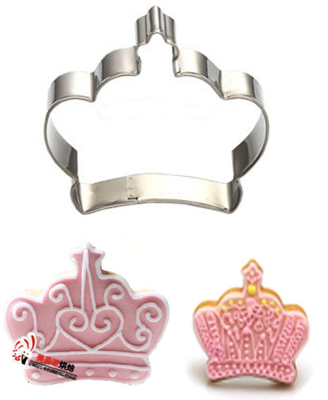 (60 * 70mm) Corona imperiale Specialized Metal Cake Cookie Bakeware Stampo Fondant Cookie Cutters Biscuit Mold Cucina Fai da te