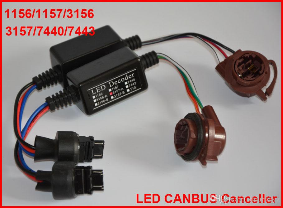 2 UNIDS 3157 Bombillas LED 8 W Error Libre Canbus Adaptadores de Cancelación de Advertencia Alambre Decodificador Anti Hyper Intermitente Parpadeo Fijo 1156/1157/3156/7440/7743