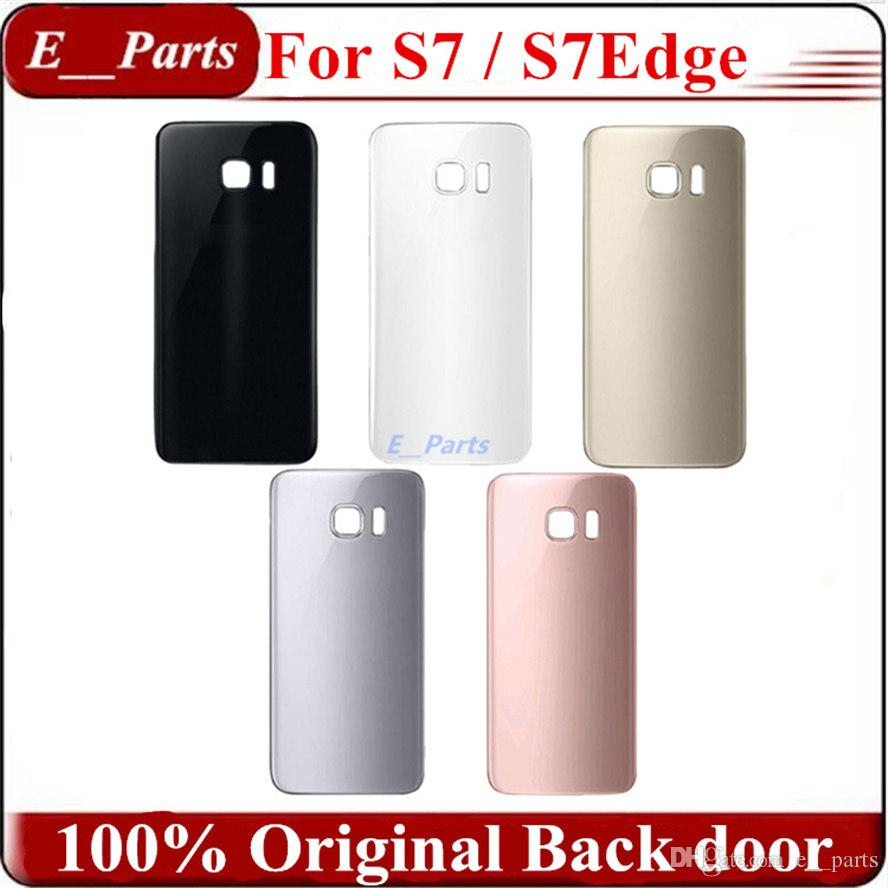 (100% Original) For Samsung Galaxy S7 G930F/S7 EDGE G935F Rear Glass Housing battery cover door with Adhesive Sticker Free fast DHL