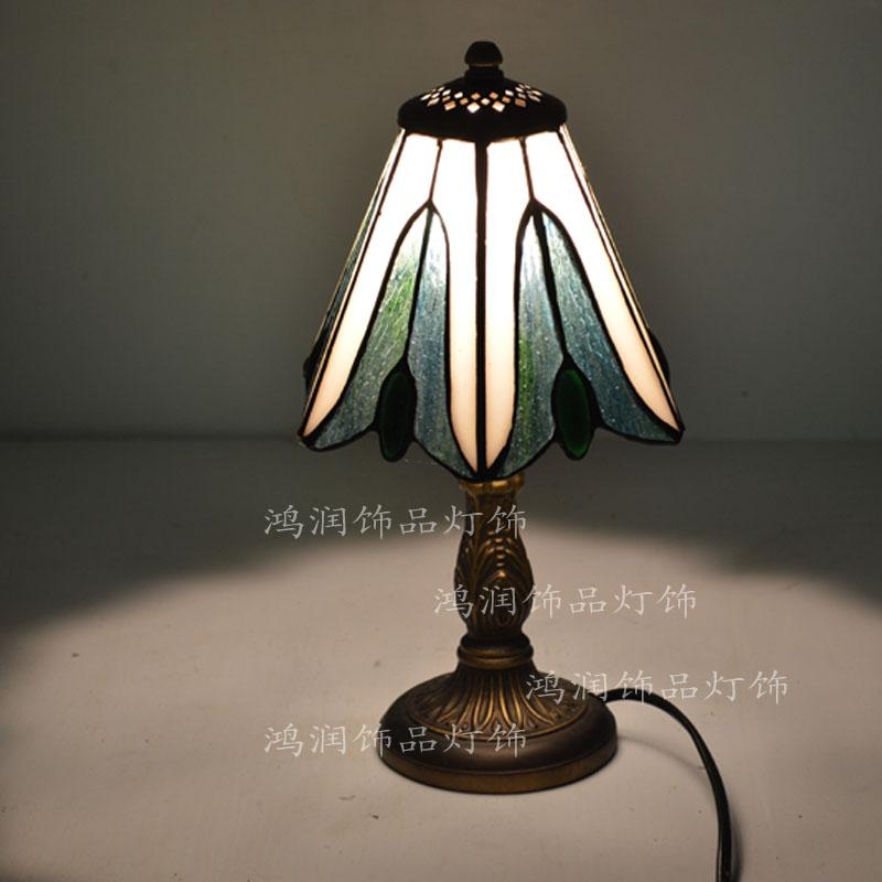 Mediterranean lamp green crystal beads tiffany lamps and lanterns small desk lamp of bedroom the head