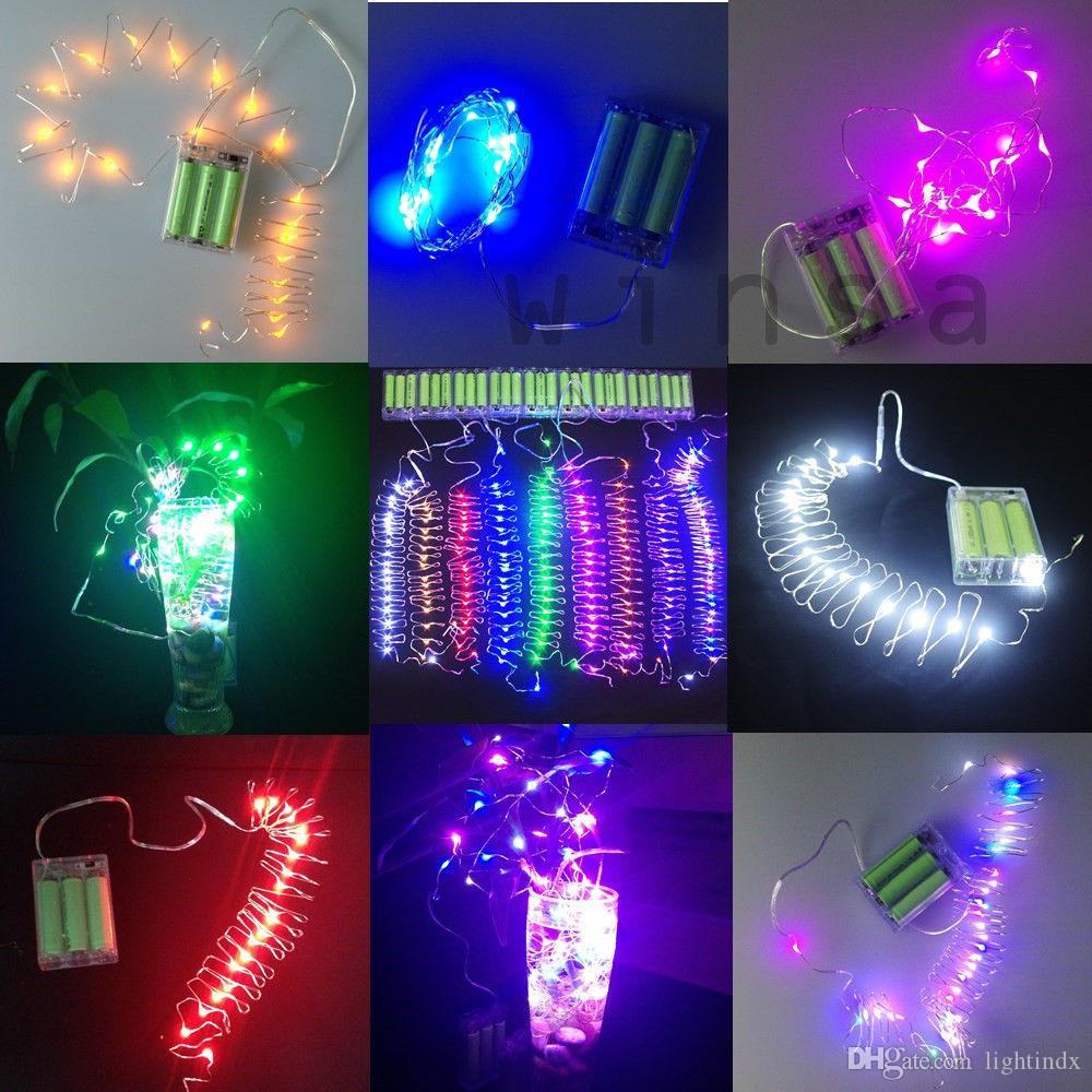 Online cheap led indoor lamp mini copper strip light 2m 20 led led indoor lamp mini copper strip light 2m 20 led submersible wire fairy string light battery mozeypictures Choice Image