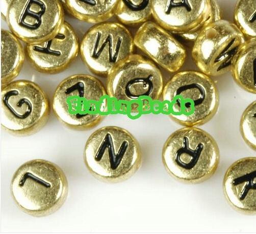 Bijoux OMH en gros de perles de lettre de paragraphe 100PCS acrylique choisir la livraison gratuite