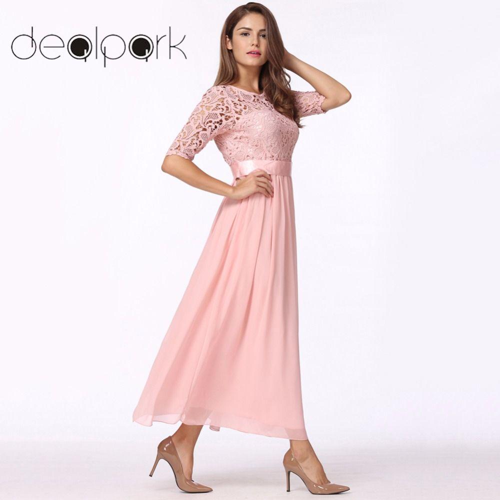 großhandel maxi lange kleider frauen spitzenkleid chiffon kleid lange kleid  elegante hochzeit party kleider weibliche vestidos de festa q1113 von