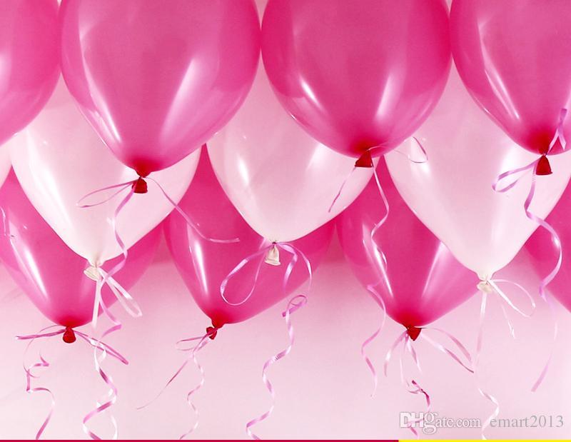 Hohe Qualität Freies Verschiffen 200pcs / lot Latex Helium Aufblasbare Verdickung Perlen-Hochzeitsfeier und 1. Geburtstagsballon