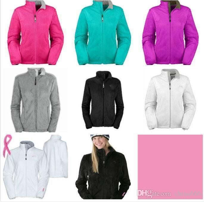 2021 HOT SELLING New Women Fleece Jacket Fashion Female Pink Ribbon Outdoor Casual Sports Winter Jacket Mix Wholesale Women.#3155