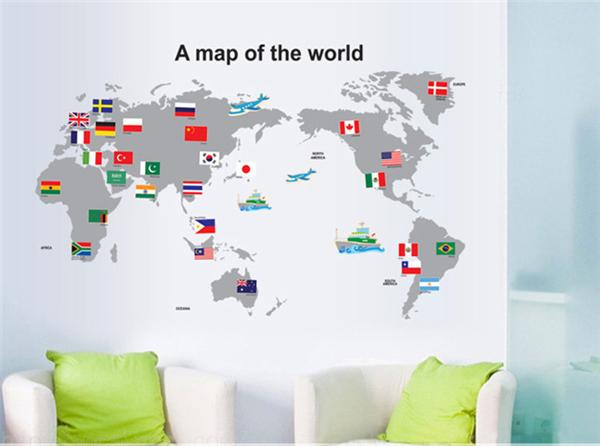 Home decoration stickers wall new diy world trip map wall stickers home decoration stickers wall new diy world trip map wall stickers removable pvc art decal mural decor sticker world map sticker decals for the wall decals gumiabroncs Images