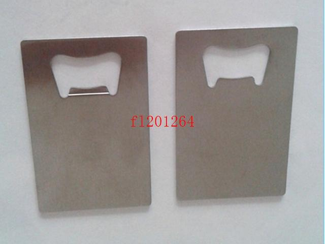 100pcs / lot DHL 페덱스 무료 배송 지갑 크기 스테인레스 스틸 신용 카드 병따개 비즈니스 카드 맥주 오프너