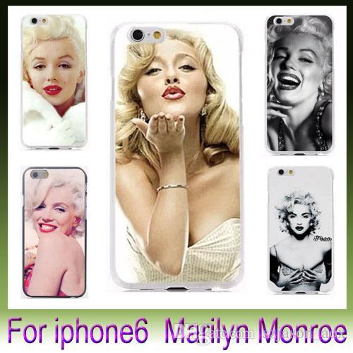 "Retro Sexig Marilyn Monroe för iPhone6 i6 iPhone 6 Plus 4.7 ""5.5"" Case Plastic Hard Phone Cover Fodral"