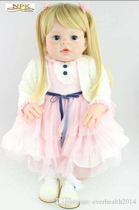 Large Real Genuine Reborn Baby Doll Arianna 70 CM 3 KG Taiwan Acrylic Moving Eyes Silicone Material