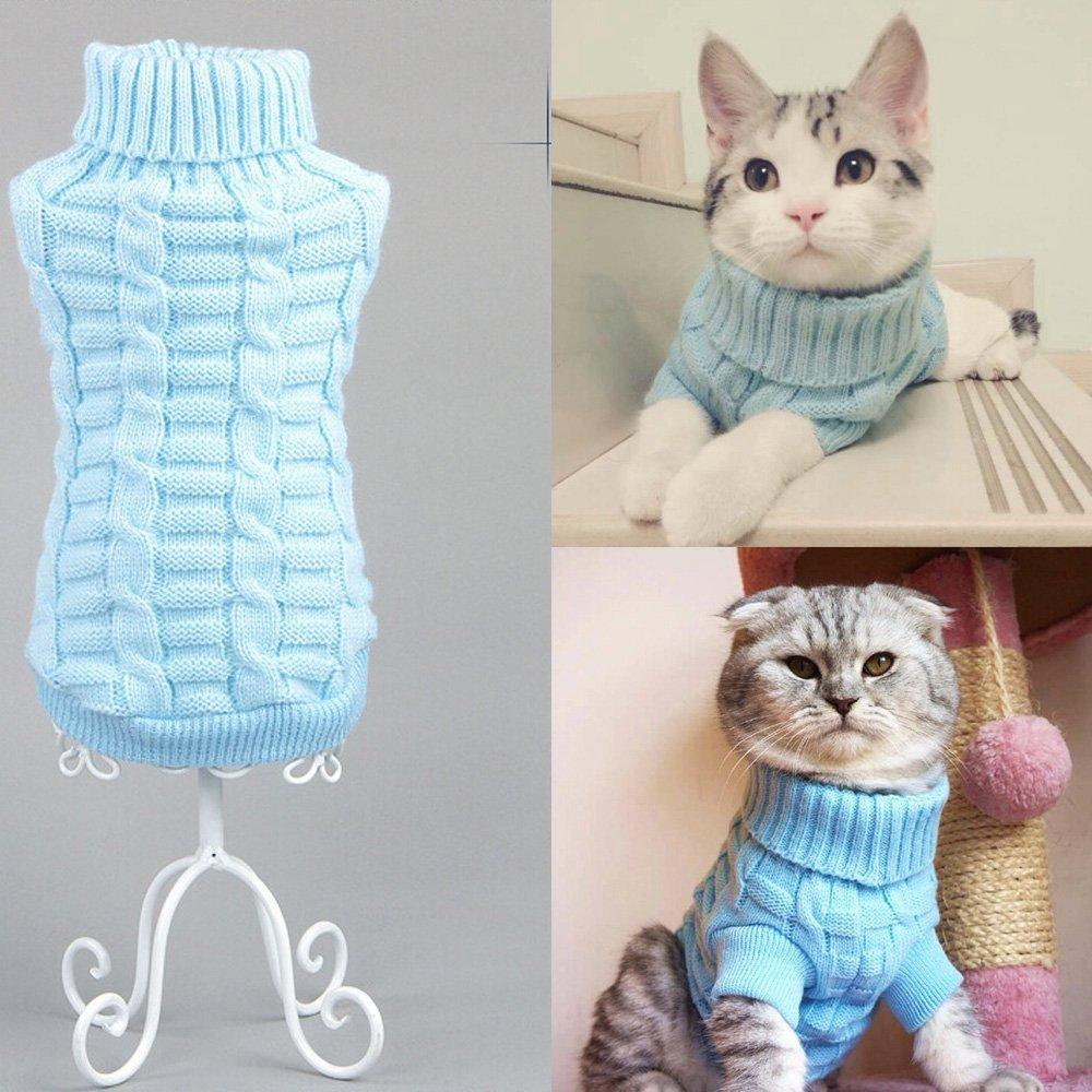 Cats Sweater Costumes Fashion Pets Pullover Knitted Kitty Doggie ...