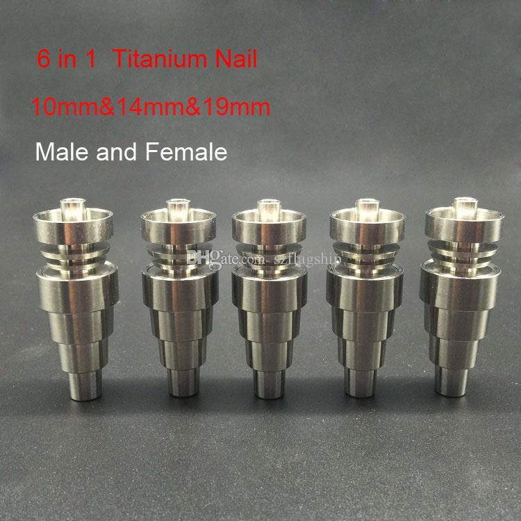 1 Domeless Titanium Nai에있는 도매 6는 남자 여성 합동으로 6MM 14MM19MM를 적합합니다 합동 탄수화물 모자 잽 도구 GRD 2 티타늄 못