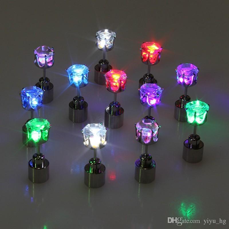 1 Stück Mode LED Leuchtende Ohrringe Für Frauen 2015 Neue Partei Einzigartige Schmuck Frauen / Männer Led Leuchtende Licht Ohrringe