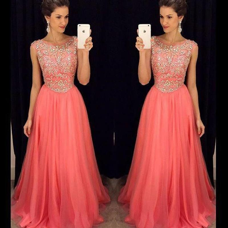 Роскошные кристаллы платья выпускного вечера линия иллюзия экипажа декольте без рукавов бисером топ арбуз вечернее платье сшитое вечернее платье