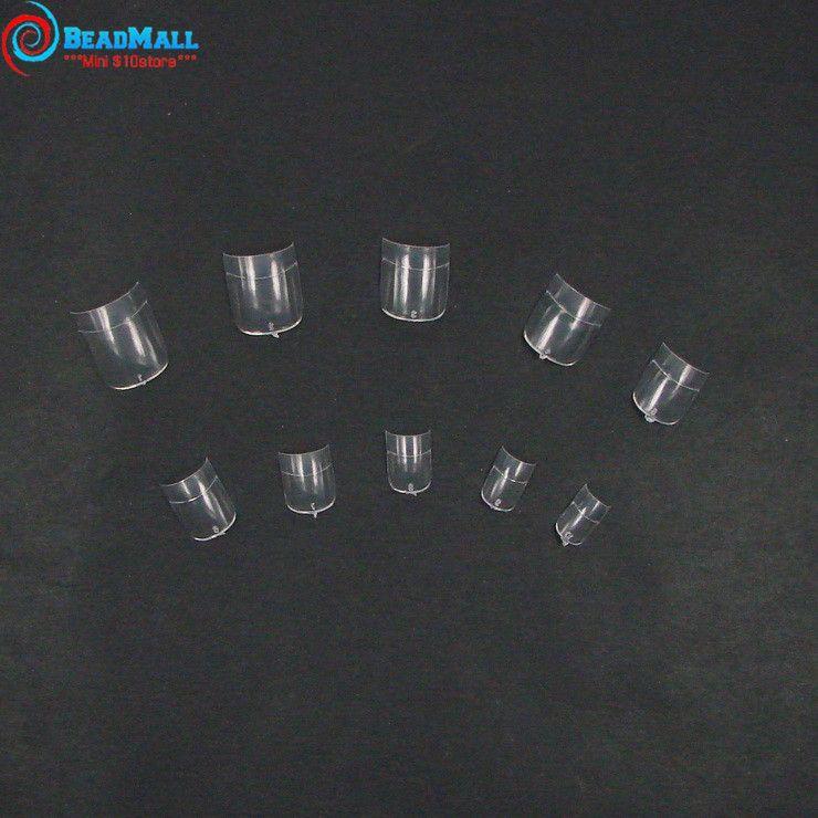 Venta al por mayor-600 piezas transparentes uñas falsas de acrílico Artificial Fake Finger cubierta completa Nails Art Tips partido uñas de la boda decoración manicura