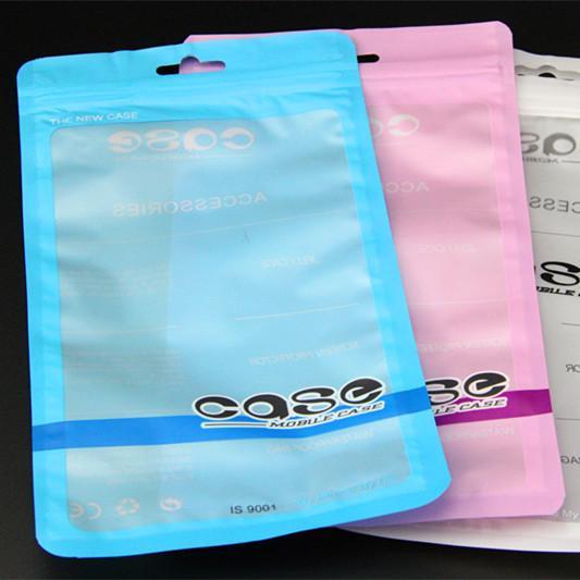 12 * 21 cm Cancella colori poli sacchetti di OPP imballaggio Zipper bloccano alcuni pacchetti accessori in PVC scatole al minuto maniglie per il cellulare