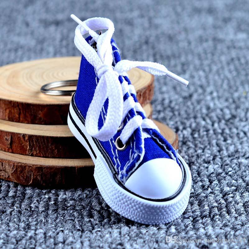 Schuh Großhandel Chucks Sneaker Mini Handtasche 3D Keychain Schlüsselanhänger Partei Schuhe Neuheit Tennis Schmuck Keychain Canvas Gefälligkeiten E2WDHIY9