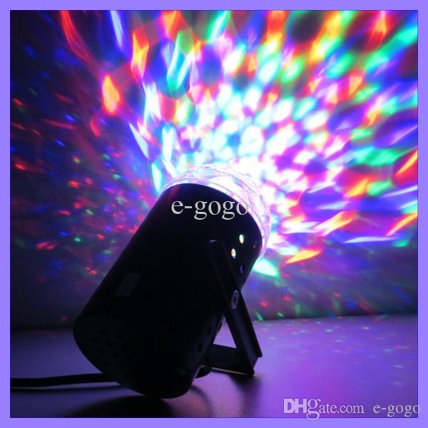 3 واط كامل اللون rgb led كريستال صوت تنشيط الدورية rgb البسيطة المرحلة ضوء مصباح ل dj ديسكو ktv حزب عيد أدى ضوء