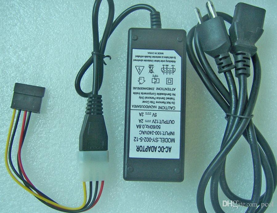 Dysk twardy Zasilnik zewnętrzny 5 V 12 V Dual DC 4-Pin Molex Adapter + Kabel złącza zasilania SATA
