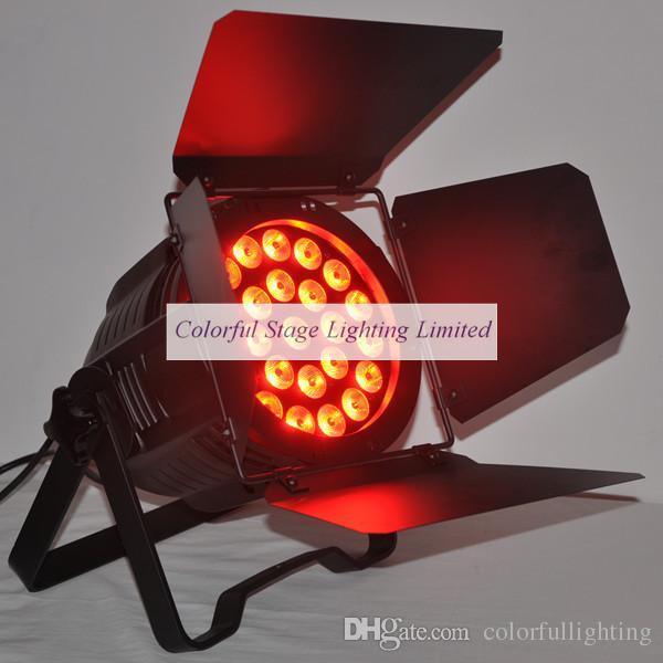 الشحن المجاني ضمان لمدة عامين LED Par يمكن Par 64 داخلي 24x15W RGBAW 5in1 LED Par