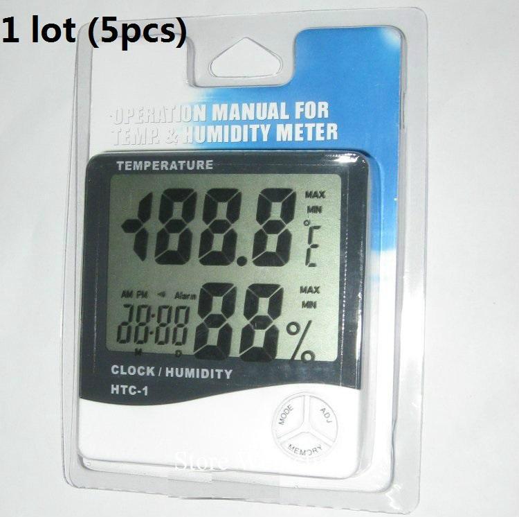 درجة الحرارة الرطوبة المنزلية على مدار الساعة 1 وحدة (محفظة 5pcs) شحن مجاني