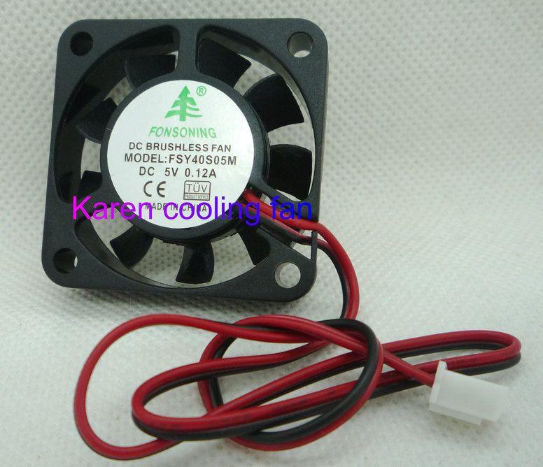 Cartes mères ordinateur petit ventilateur FSY40S12M 4010 12V 0.08A Palier lisse deuxième terminal 40X40X10 2.54