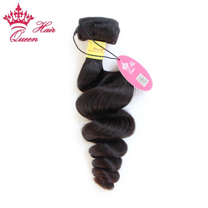 Queen Hair Products Peruaanse Virgin Losse Wave Hair Extensions Onverwerkte Haar 1PC Lot 12 tot 28 Beschikbaar