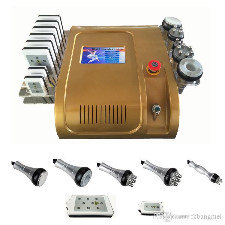 Обновление 40 Кавитационный диодный лазер 650 нм Lipo Laser Multipole RF Вакуумный Жир Целлюлит Для Похудения Золото